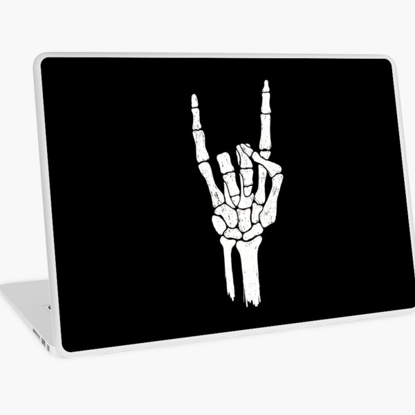 Rock Skeleton Hand Laptop Skin