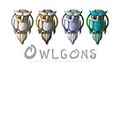 Owlgons: All Seasons (Plain Background) by MeaKitty