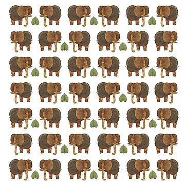 Elephants on a white background by anushka777
