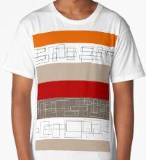 Red Stripe Long T-Shirt