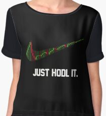 funny saying just hodl it ,cryptocurrency Chiffon Top