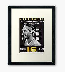 Rafa Nadal 16 Grand Slam Framed Print