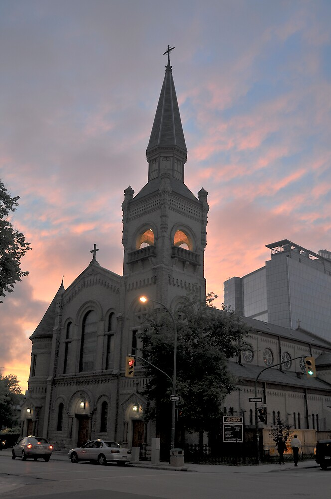 Downtown Winnipeg Church  by Geoffrey