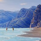 HORSE RIDERS ON THE BEACH by defineart