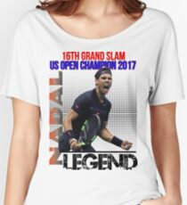 Rafael Nadal The Legend  Women's Relaxed Fit T-Shirt