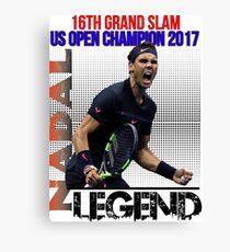 Rafael Nadal The Legend  Canvas Print