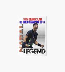 Rafael Nadal The Legend Art Board