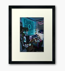 Modern Male Witch: Home Office Framed Print