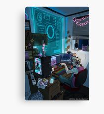 Modern Male Witch: Home Office Canvas Print