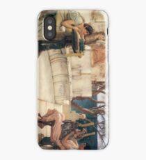 Sappho and Alcaeus 1881 Sir Lawrence Alma-Tadema iPhone Case/Skin