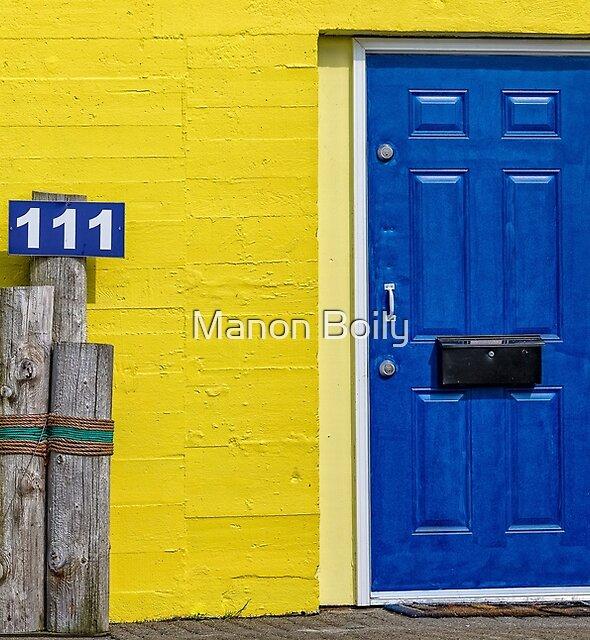 blue door by Manon Boily