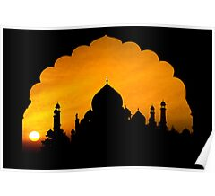 Fluted Arch Taj Mahal - Poster by Glen Allison