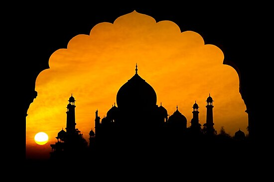 Fluted Arch Taj Mahal - Photographic Print by Glen Allison