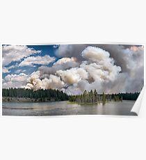 LeHardy Fire, Yellowstone National Park Poster