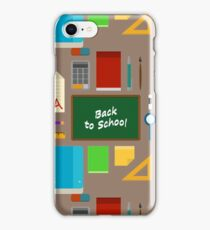 School Supplies Pattern - Back to School Time iPhone Case/Skin
