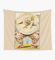 CLOWN; Vintage Circus Advertising Print Wall Tapestry
