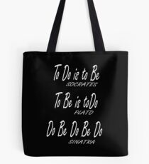 Do be Do be Do, Greek version, MUSIC, Frank Sinatra Lyrics, on BLACK Tote Bag