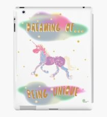 Dreaming of Being Unique | Inspirational Art iPad Case/Skin