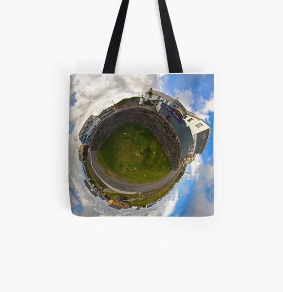 Tigh Ruairi - Inisheer Village (Sky out)  All Over Print Tote Bag
