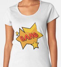 Bang Bang comic sound effect bubble Women's Premium T-Shirt