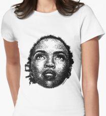 Scribbled Singer Tailliertes T-Shirt für Frauen