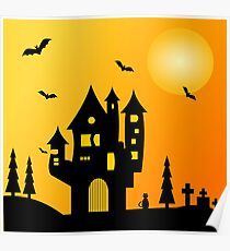 Halloween Haunted Mansion Poster
