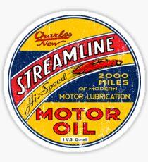 Streamline Motor Lubrication Sticker