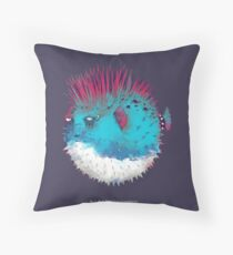 Punk Fish Throw Pillow