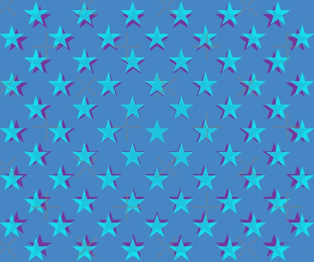 Light blue stars pattern by steveball