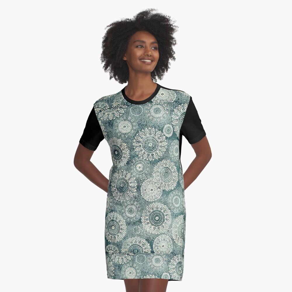 Oriental Graphic T-Shirt Dress Front