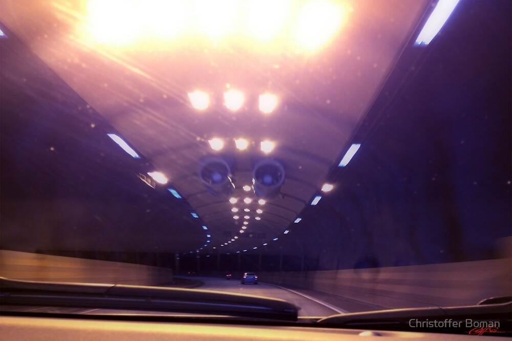 Freeway tunnel by Christoffer Boman