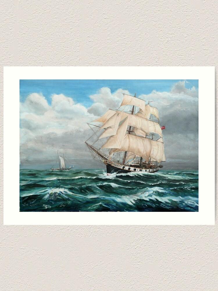 Alternate view of HMS Beagle, Darwin's Ship 1831/6 Art Print