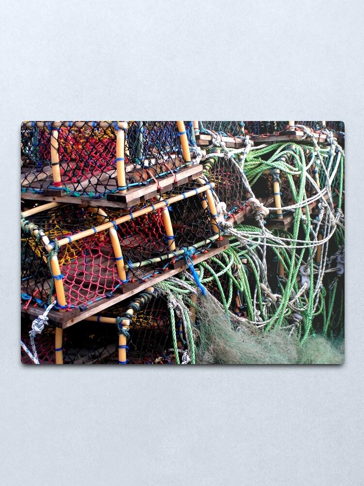 Alternate view of Lobster Pots At Scarborough UK Metal Print