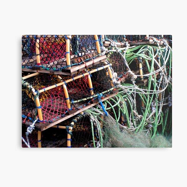 Lobster Pots At Scarborough UK Metal Print