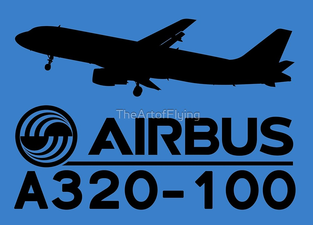Airbus A320-100 - Silhouette (Black) by TheArtofFlying