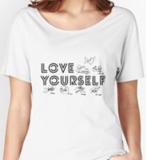 LOVE YOURSELF - BTS // With Signatures Women's Relaxed Fit T-Shirt