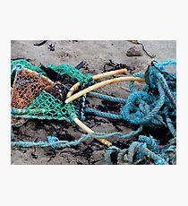 Broken Lobster pot Photographic Print