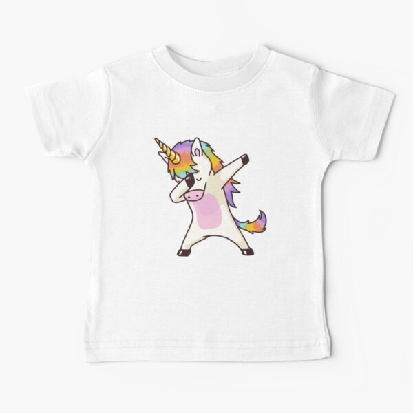 Dabbing Unicorn Shirt Hip Hop Dab Pose Baby T-Shirt