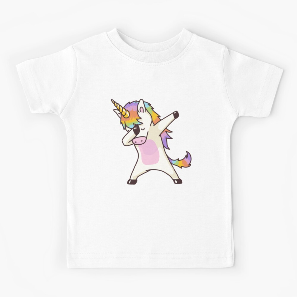 Dabbing Unicorn Shirt Hip Hop Dap Pose Kids T-Shirt