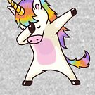 «Dabbing Unicorn Shirt Hip Hop Dap Pose» de vomaria
