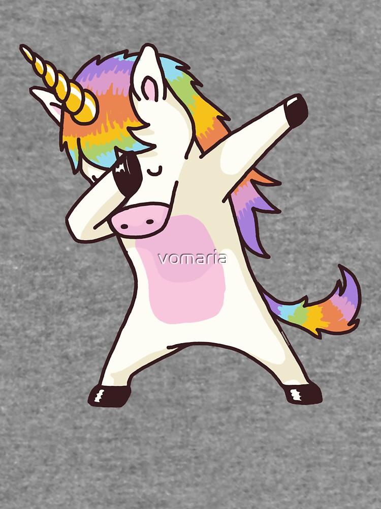 Dabbing Unicorn Shirt Hip Hop Dap Pose by vomaria