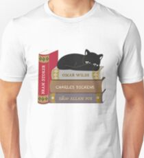 Dark literature cat books lovers Unisex T-Shirt