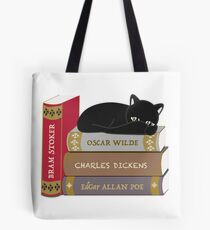 Dark literature cat books lovers Tote Bag