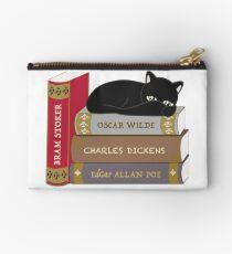 Dark literature cat books lovers Studio Pouch