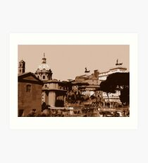 Rome, a view from the Imperial Forums Art Print