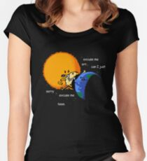 Excuse Me Total Solar Eclipse August 21 2017 Women's Fitted Scoop T-Shirt