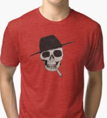 Smoking skull Tri-blend T-Shirt