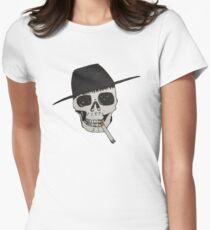 Smoking skull Women's Fitted T-Shirt