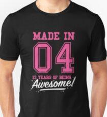 Birthday Shirts made in 2004 - 13 years old Girls T-Shirt