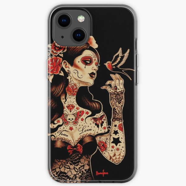 Day of the Dead Art, Day of the Dead Picture ,Dia De Los Muertos iPhone Soft Case